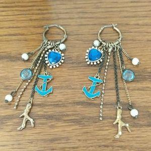 Betsey Johnson Sea Inspired Earrings